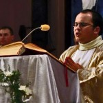 Deacon singing the Exultet at Easter Vigil