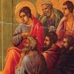 Duccio di Buoninsegna Christ_Taking_Leave_of_the_Apostles 4