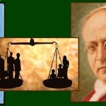 PopePius XI encyclical on social justice collage