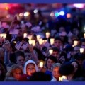 Boston candlelight vigil collage