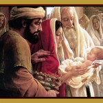 presentation of baby jesus at the temple collage