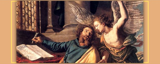 St. Matthew and the Angel, by Vincenzo Campi (1588).