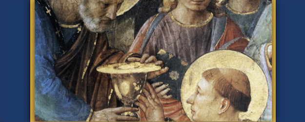 Ordination of St. Stephen by St. Peter, by Fra Angelico (1447-49).
