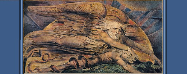 Elohim Creating Adam, William Blake (c. 1805).
