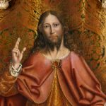Painting of Christ blessing, by Gallego