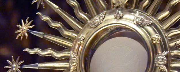 Detail of a host in a monstrance