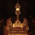 Monstrance with host and candles